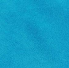 Lagoon Blue Velour Suede Leather Half Skin